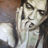 Portrait painting girl, Malerei