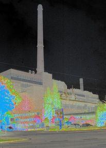 Kraftwerk, Architektur, Energie, Industrie