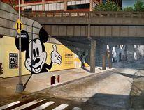 New york, Fröhlichkeit, Ölmalerei, Malerei