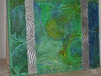 Malerei, Silber, Grün, Effekt