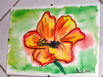 Hibiskusblüte, Malerei