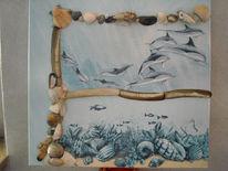Meer, Tiefe, Tiere, Malerei