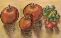 Apfel, Studie, Malerei