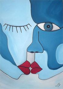 Farben, Blau, Menschen, Malerei