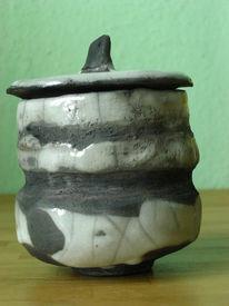 Keramik, Raku, Dose, Kunsthandwerk