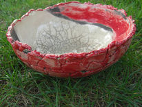 Schale, Keramik, Raku, Kunsthandwerk