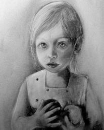 Zeichnung, Kreide, Bleistiftzeichnung, Kohlezeichnung