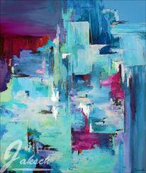 Blau, Acrylmalerei, Abstrakt, Erwachen