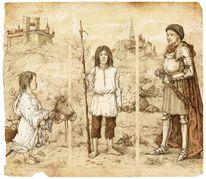 Märchen, Illustration, Mittelalter, Landschaft