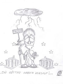 Zeichnung, Illustration, Zeichnungen, Götter
