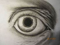 Zeichnung, Augen, Malerei, Portrait