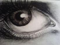 Augen, Iris, Wimpern, Malerei