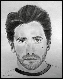 Jake gyllenhaal, Bleistiftzeichnung, Portrait, Menschen