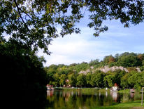 Halle, Fluss, Sommer, Fotografie