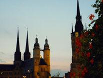 Saale, Sommerabend, Stadt, Fotografie