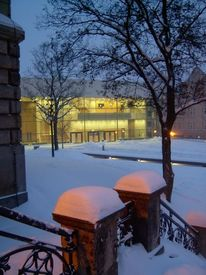Universitätsplatz, Kunstfotografie, Halle, Winter
