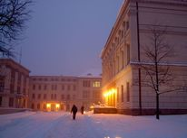 Universität, Kunstfotografie, Winter, Halle