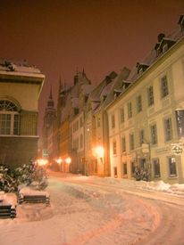 Straßenszene, Halle, Fotografie, Saale