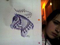 Araber, Pferde, Zeichnungen, Kopf