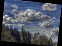 Wolken, Fotografie, Fenster, Blau