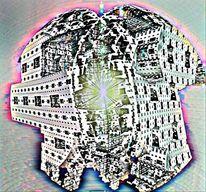 Baustelle, Raumschiff, Digital, Raum
