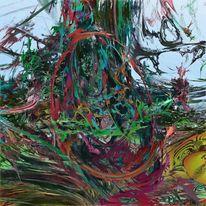 Baumstamm, Farben, Verwirrung, Modern