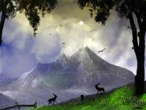 Hang, Kitz, Baum, Wolken