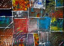 Acrylmalerei, Struktur, Spachteltechnik, Abstrakt