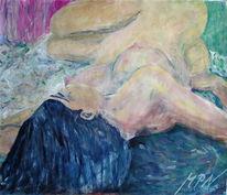 Figur, Tanz, Akt, Acrylmalerei