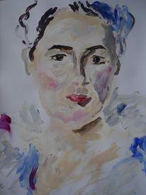 Frauenportrait, Skizze, Acrylmalerei, Malerei