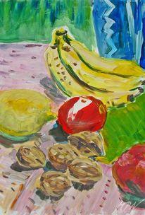Acrylmalerei, Früchte, Farben, Stillleben