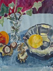 Silber, Spiegelung, Oberfläche, Früchte