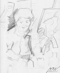 Skizze, Portrait, Bleistiftzeichnung, Malerei
