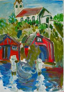Wasser, Acrylmalerei, Meer, Schweden