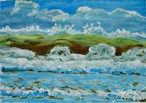Meer, Welle, Farben, Gischt