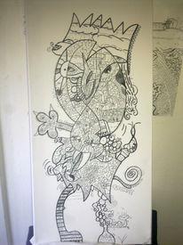 Lack, Herbst, Bleistiftzeichnung, Mrmonkey