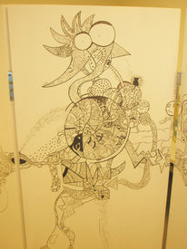 Edding, Zeichnung, Ornamente, Fahrrad