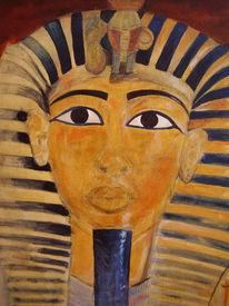 Acrylmalerei, Pharao, Maske, Antik