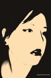Lippen, Frau, Schwarz weiß, Fotografie