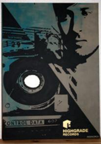 Collage, Darkangel, Malerei,