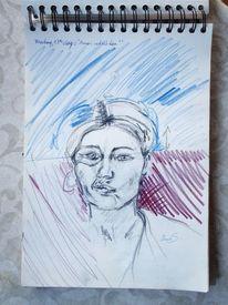 Indien, Zeichnung, Malerei, Portrait