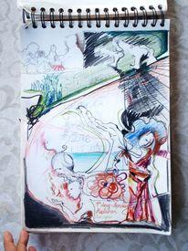 Indien, Zeichnung, Malerei