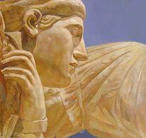 Malerei, Figural, Angel