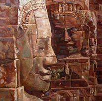 Buddhismus buddha religion, Malerei, Figural, Dialog