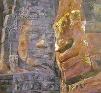 Buddhismus buddha religion, Malerei, Figural, Sonne