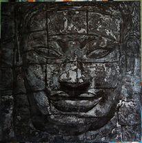 Buddhismus buddha religion, Malerei, Figural, Silber