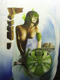 Mythologie frau amazonen, Malerei, Surreal