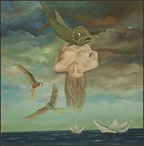 Ölmalerei, Traum, Frau, Malerei