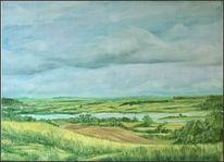 Landschaft, Malerei, Mecklenburg