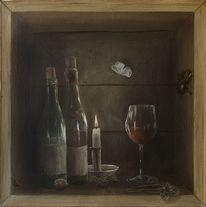 Hirschkäfer, Weinglas, Schmetterlinmg, Käfer